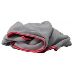 MICROFIBER CLOTH GREY-RED